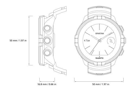 שעון כושר עם דופק מובנה עשיר בפונקציות חכמות דגם Suunto 3 Fitness במגוון צבעים לבחירה - משלוח חינם - תמונה 4