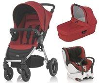 סט עגלת תינוק B-Motion + כיסא בטיחות מסתובב Dualfix
