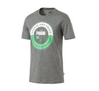 חולצת טי מודפסת דגם L85407803 לגברים - אפור