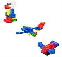 משחק עיצוב 50 קוביות מוארות LIGHT STAX, תואם גודל קוביות LEGO - משלוח חינם!