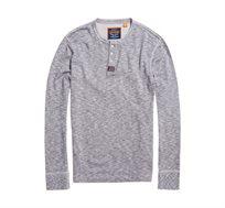 חולצת שרוול ארוך SUPERDRY Heritage Grandad לגברים - אפור
