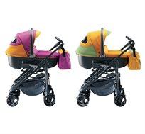 עגלת תינוק NEONATO האיטלקית דגם Synchro Multisport כוללת אמבטיה רחבה, טיולון, סלקל לרכב ותיק