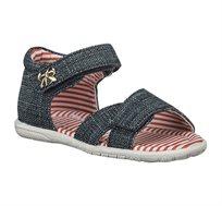 נעלי צעד ראשון תומר פסים לבנות - ג'ינס