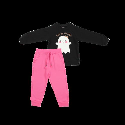 מיננה חליפת פוטר לילדות (6-2 שנים) - שחור Cute