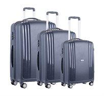 סט מזוודות קשיחות 3 גדלים Ferrini - צבע לבחירה