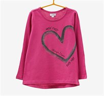 חולצה OVS לילדות עם שרוולים ארוכים - ורוד