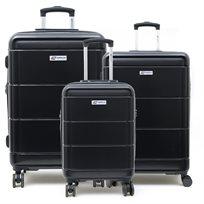 American Travel - סט 3 מזוודות קשיחות בצבע נייבי