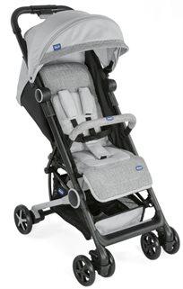עגלת תינוק וטיולון קליל וקומפקטי מינימו 2 Miinimo עם גגון מוגדל ופגוש - אפור Silver