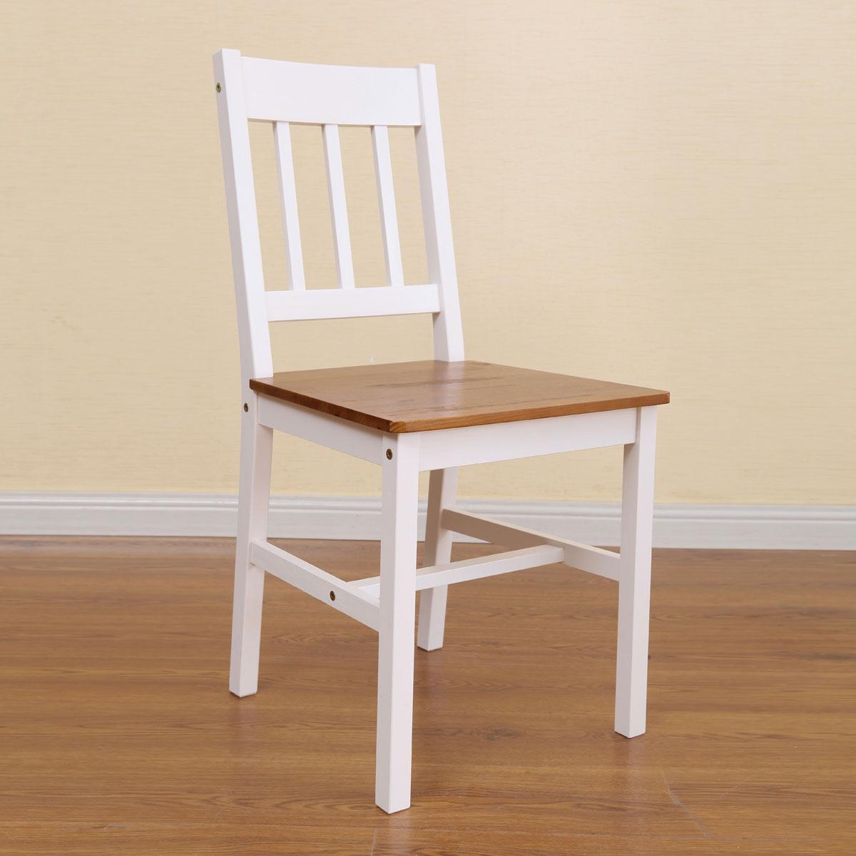 שולחן פינת אוכל עם 4 כיסאות מעץ מלא בעיצוב אלגנטי - תמונה 6