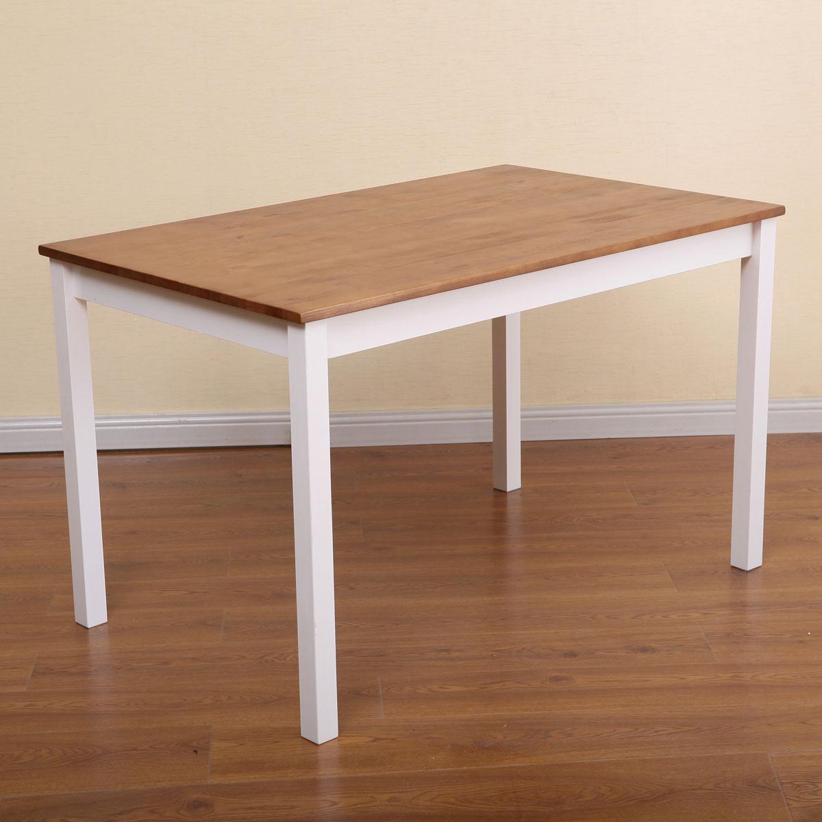 שולחן פינת אוכל עם 4 כיסאות מעץ מלא בעיצוב אלגנטי - תמונה 5