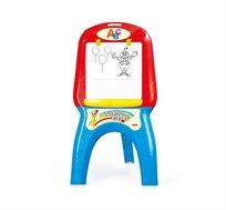 לוח ציור לילדים Dolu עם רגליים מתקפלות כולל דפים לציור, מדבקות צבעוניות, מדף אחסון ועוד - משלוח חינם