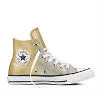 נעלי סניקרס All Star גבוהות לנשים - זהב