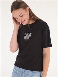 חולצה טומי הילפיגר שחורה לנשים