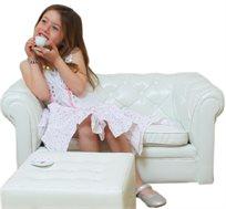 ספת נסיכה בעיצוב קלאסי מרופדת בד PVC איכותי המעניק יציבות ונוחות מירבית