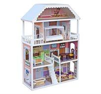 בית בובות מעץ לילדים כולל אביזרים דגם מורן ספירל