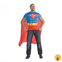 סופרמן חולצת שרירים וגלימה מבוגרים