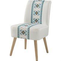 כורסא Texmod - לבן & צבעוני - משלוח חינם