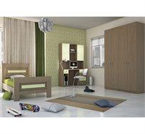 סט ריהוט לחדר הילדים הכולל מיטה, ארון ועמדת עבודה דגם OFIR במגוון צבעים לבחירה