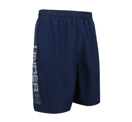 מכנסי שורט לאימון Under Armour Woven Graphic Wordmark לגברים  - כחול נייבי