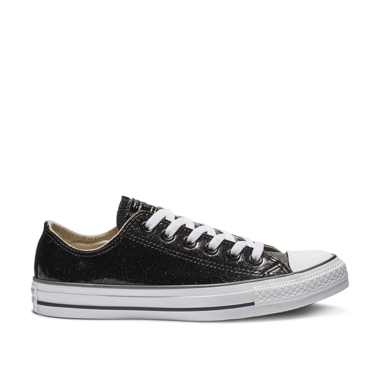 נעלי סניקרס All Star נמוכות לנשים - שחור נצנצים