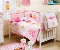 סט מצעים 3 חלקים למיטת תינוק ממלכת הנסיכות - דיסני