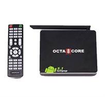 קופסת טלוויזיה חכמה ANDROID SMART TV 5.1 OCTA Core עם מעבד עוצמתי 8 ליבות KODI/XBMC לשיתוף קבצים