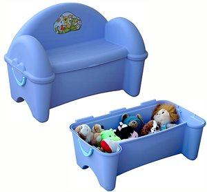 ספסל פלסטיק מדליק לילדים המשמש גם ככלי איחסון עד 33 ליטר