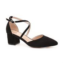 Seventy Nine - נעלי עקב שחורים עם רצועה דקה מוצלבת