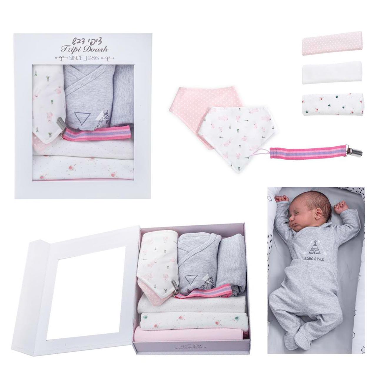 מארז מתנה ליולדת כולל ארבעה פריטים בגוונים לבחירה - תמונה 2