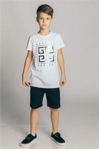 חולצת טריקו קצרה Kiwi לילדים בצבע לבן