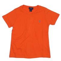 RALPH LAUREN / ראלף לורן (5-4 שנים) חולצת טישרט וי חלק -כתום