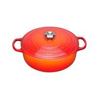 סיר ריזוטו 30 ברזל יצוק לכל סוגי הכיריים ולתנור במגוון צבעים לבחירה