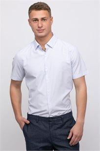 חולצה מכופתרת טקסטורה אלגנטית