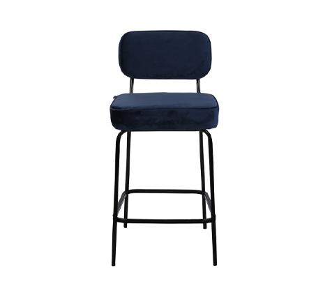 כיסא בר בצבע כחול כהה דגם ניקו ביתלי בעיצוב רטרו