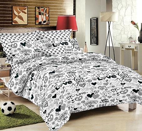 סט מצעים זוגי 100% כותנה רכה ומפנקת לשינה במגוון דגמים לבחירה  - תמונה 2
