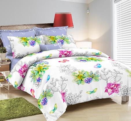 סט מצעים זוגי 100% כותנה רכה ומפנקת לשינה במגוון דגמים לבחירה  - תמונה 3