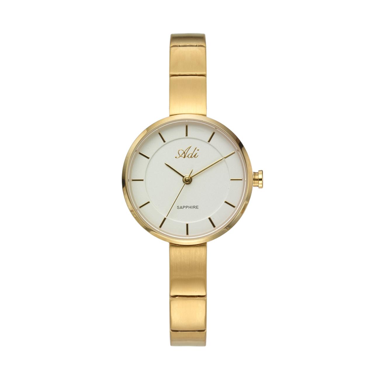 שעון יד אלגנטי לנשים עם רצועת צמיד חוליות - מוזהב