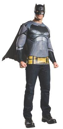 חולצה שרירית עם גלימה ומסכה באטמן מבוגרים