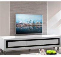 מזנון לסלון בצבע לבן בגימור אפוקסי המעוצב במראה יוקרתי ומודרני דגם סהר LEONARDO