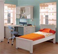 מיטת יחיד מעץ לחדרי ילדים ונוער דגם יסמין