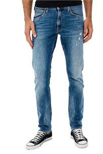 ג'ינס סלים פיט LEE לגברים בצבע כחול