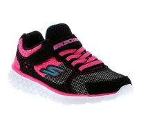 נעלי ספורט לילדות - שחור/ורוד