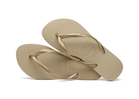 Havaianas נשים// Slim Sand Grey/Light Golden