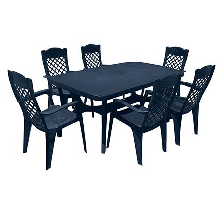 פינת אוכל למרפסת ולגינה הכוללת שולחן ו-6 כיסאות בצבעים לבחירה KETER - תמונה 3
