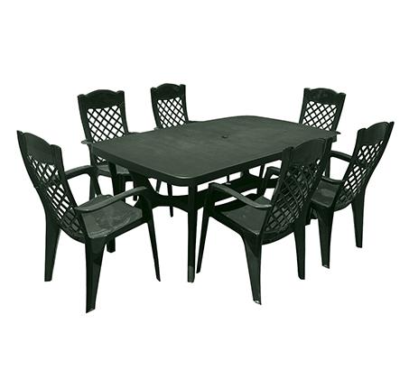 פינת אוכל למרפסת ולגינה הכוללת שולחן ו-6 כיסאות בצבעים לבחירה KETER - תמונה 4