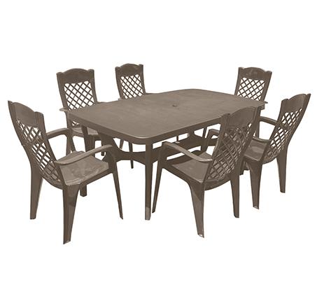 פינת אוכל למרפסת ולגינה הכוללת שולחן ו-6 כיסאות בצבעים לבחירה KETER - תמונה 5