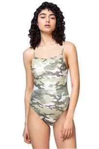 בגד ים שלם Strappy Arizona -צבאי