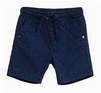 מכנסי ברמודה קצרים לתינוקות וילדים בצבע כחול כהה