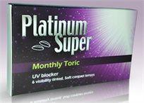 חד וחלק! רק ₪139 לעדשות מגע רכות Platinum Super חודשיות לתיקון צילינדר, חוסמות UV - לכל שעות היום!