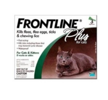 טיפות נגד פרעושים לחתול - פרונטליין פלוס
